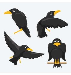 crows vector image vector image