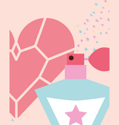 Cute fragrance diamond heart jewelry vector