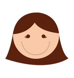 cute women face cartoon vector image