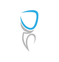 dental symbol icon on white vector image