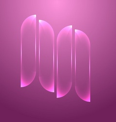 Design pink glass banners set vector