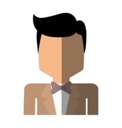 Elegant man male isolated icon vector