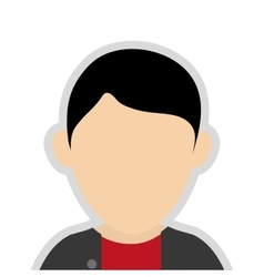 Faceless man wearing casual clothes portrait icon vector