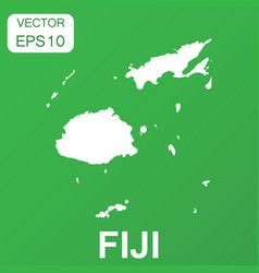 fiji map icon business concept fiji pictogram on vector image