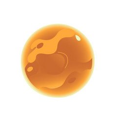 flat orange planet icon vector image