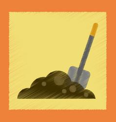 Flat shading style icons halloween plot shovel vector