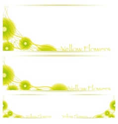 Flower background brochure template vector image