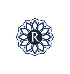 flower elegance initial r vector image