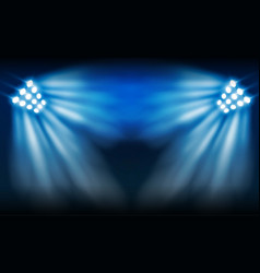 football arena field with bright stadium lights vector image