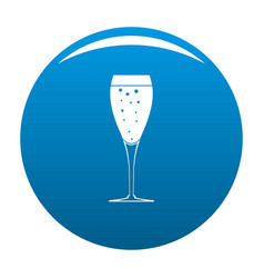 Full glass icon blue vector