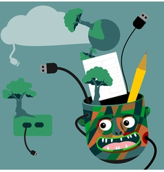 Green technology idea vector image
