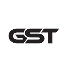 gst logo design template vector image