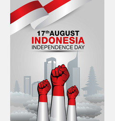 Happy independence indonesia day greetings design vector