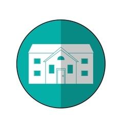 house suburban home circle shadow vector image