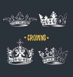 image of heraldic crown vector image