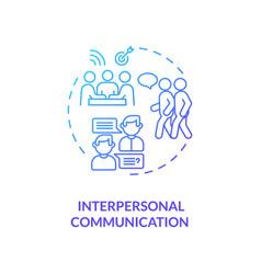Interpersonal communication concept icon vector