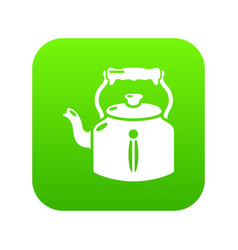 kettle old icon green vector image