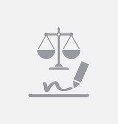 Legal signature concept icon vector