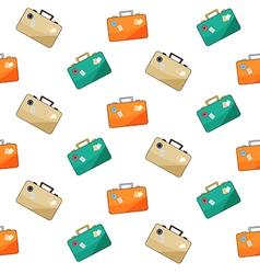 luggage pattern on white background vector image