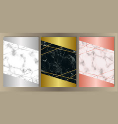 luxury marble set vector image