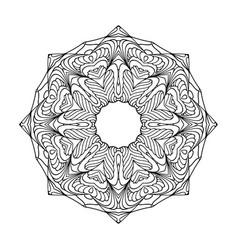 Mandala black set vector