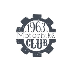 Motorbike Club Black And White Vintage Emblem vector