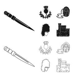National dirk dagger thistle national symbol vector