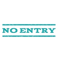 No Entry Watermark Stamp vector image