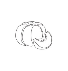 one single line drawing whole round healthy vector image