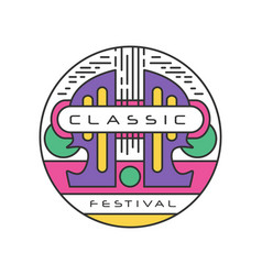 original logo template for classic music festival vector image