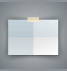 Paper a4 icon on the grey background vector
