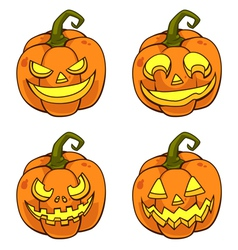 PumpkinFaceCartoon vector