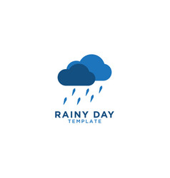 rainy day logo graphic design template vector image