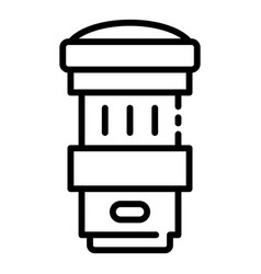 Removable camera lens icon outline style vector
