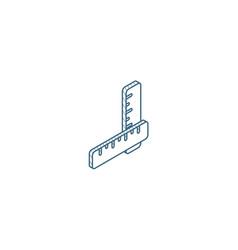 Ruler isometric icon 3d line art technical vector