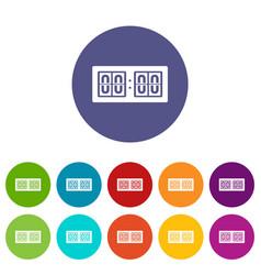 Scoreboard set icons vector
