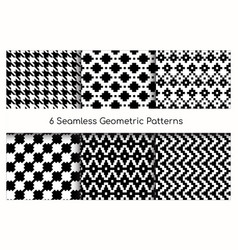 seamless geometric pattern set vector image