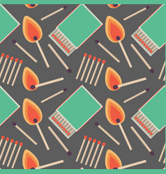 Seamless pattern with flat matches vector
