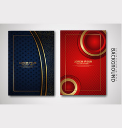 Set cover design template with futuristic and vector