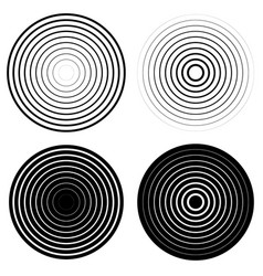 Set of 4 concentric circle elements ripple vector