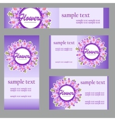 Set of four cards with buttercup disign vector