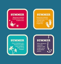Set of Summer Holidays Frames Templates vector image