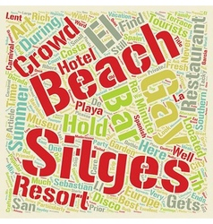 Sitges Resort for Alternative Lifestyles text vector