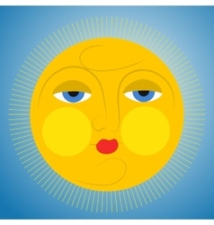 Sleepy sun vector image