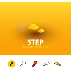Step icon in different style vector