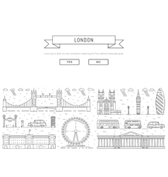 symbols of London vector image