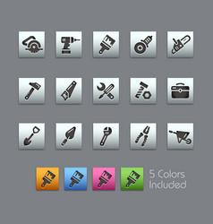 tools icons - satinbox series vector image