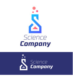 trendy science symbol for company element vector image