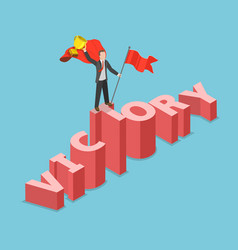 victory flat isometric concept vector image