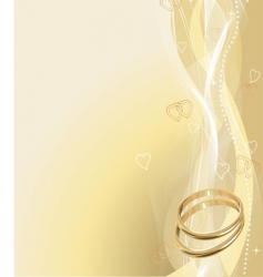 Wedding rings background vector